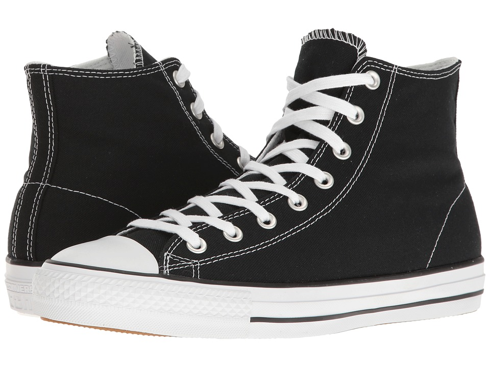 Converse Skate - Chuck Taylor(r) All Star(r) Pro Rubber Infused Canvas Hi (Black/White/Black) Men's Skate Shoes