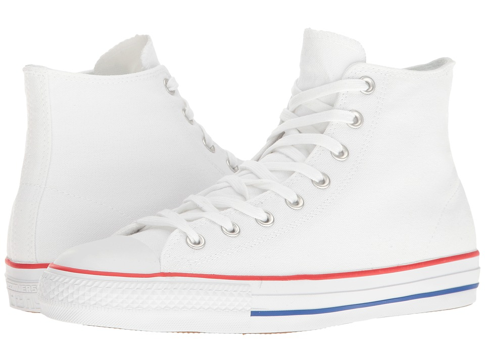 Converse Skate Chuck Taylor(r) All Star(r) Pro Rubber Infused Canvas Hi (White/Red/Blue) Men