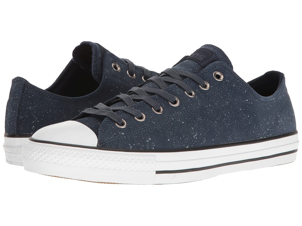Converse - Chuck Taylor All Star Pro Peppered Suede Ox (Obsidian/White/Obsidian) Men's Skate Shoes