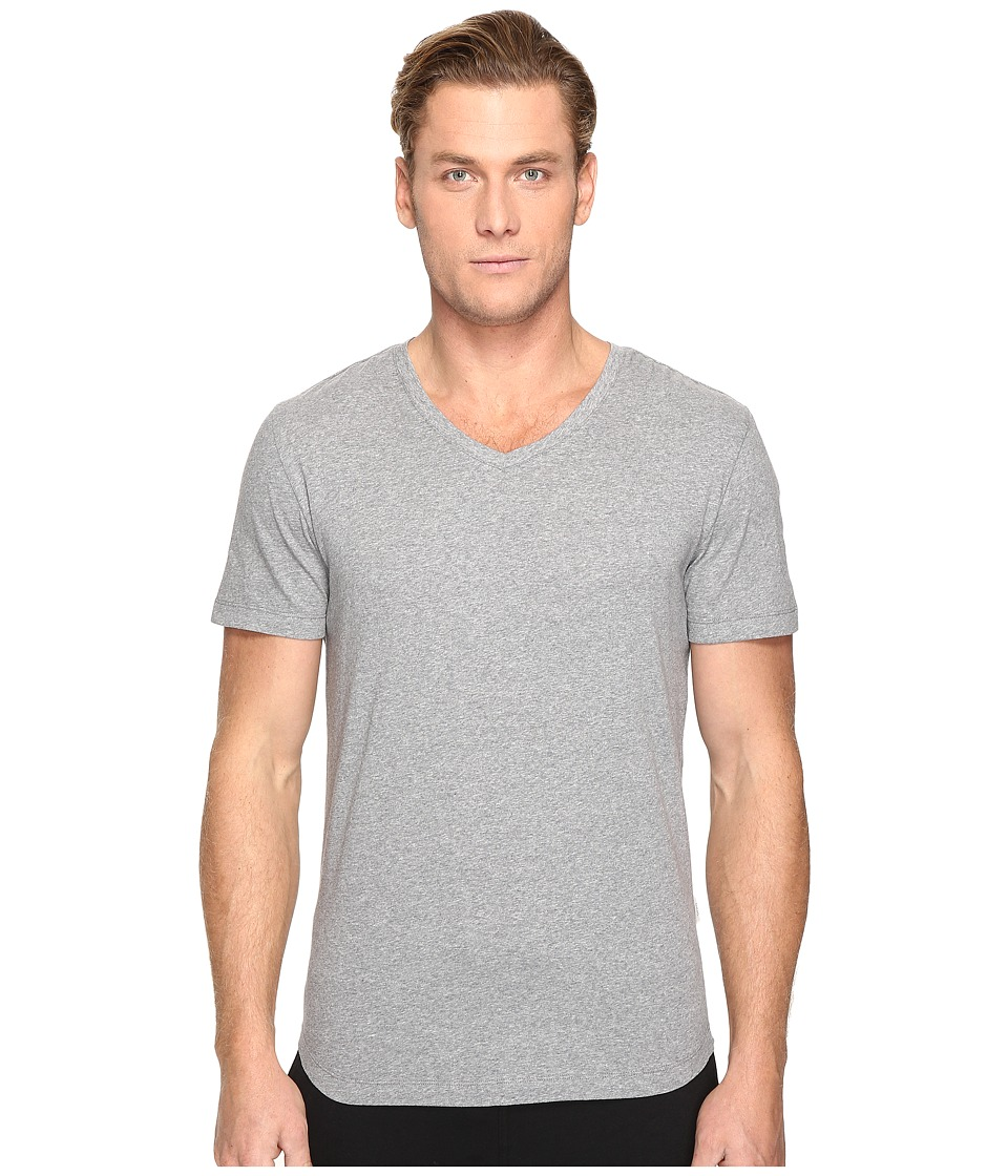 onia - Joey V-Neck Tee (Mid Heather Grey) Men's T Shirt