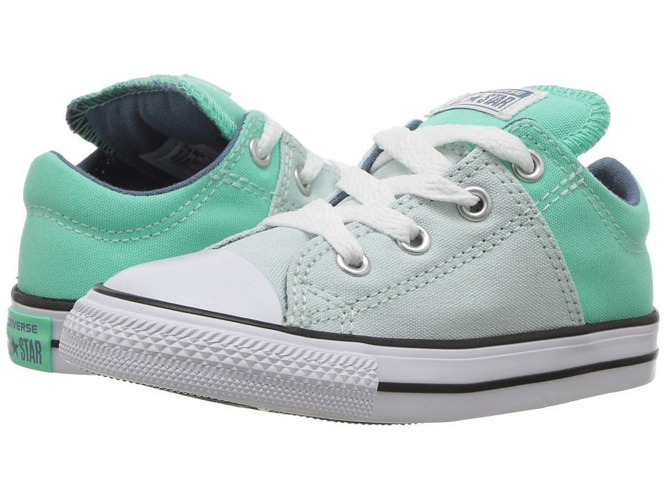 Converse Kids - Chuck Taylor All Star Madison Ox (Infant/Toddler) (Fiberglass/Green Glow/Blue Coast) Girl's Shoes