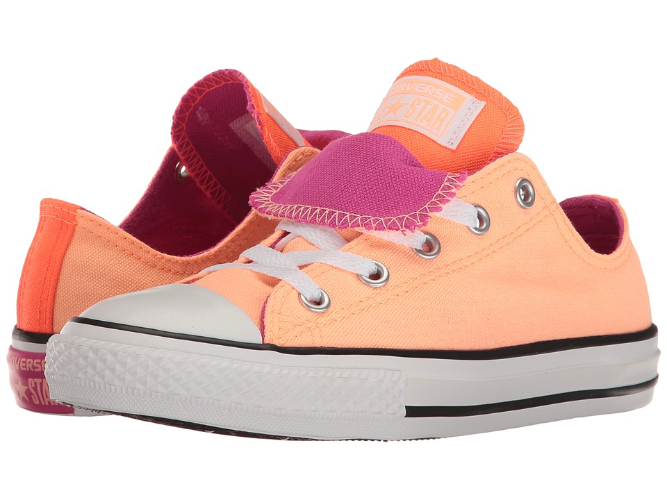 Converse Kids - Chuck Taylor All Star Double Tongue Ox (Little Kid/Big Kid) (Sunset Glow/Hyper Orange/Magenta Glow) Girl's Shoes