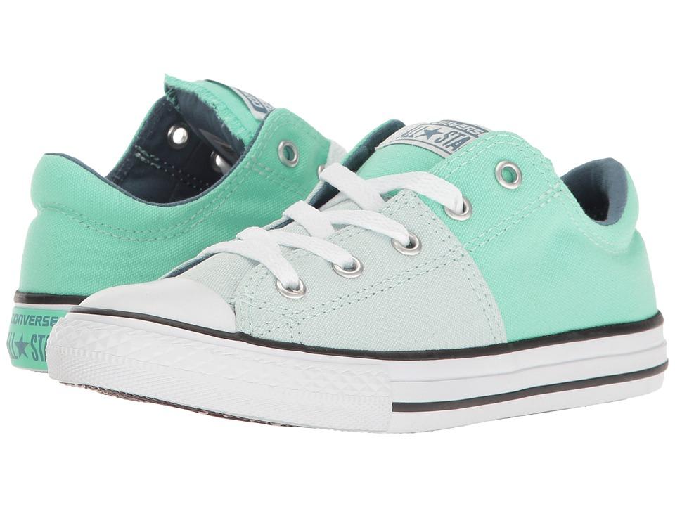 Converse Kids - Chuck Taylor All Star Madison Ox (Little Kid/Big Kid) (Fiberglass/Green Glow/Blue Coast) Girl's Shoes