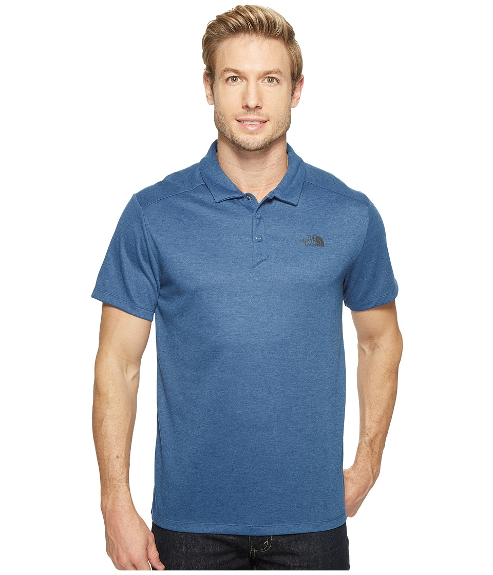 The North Face - Short Sleeve Crag Polo (Shady Blue Heather (Prior Season)) Men's Short Sleeve Knit