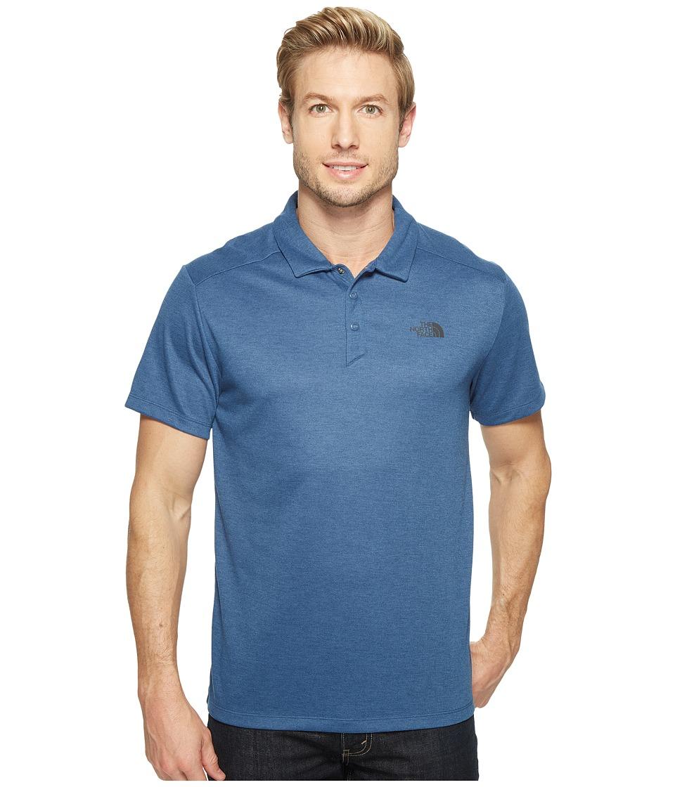 The North Face - Short Sleeve Crag Polo (Shady Blue Heather (Prior Season)) Men's Short Sleeve Knit