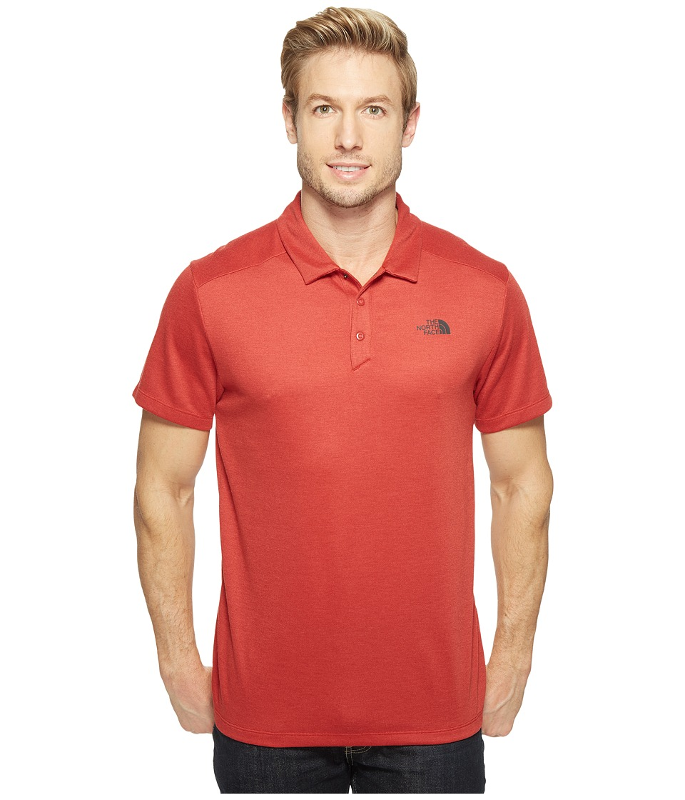 The North Face - Short Sleeve Crag Polo (Cardinal Red Heather (Prior Season)) Men's Short Sleeve Knit