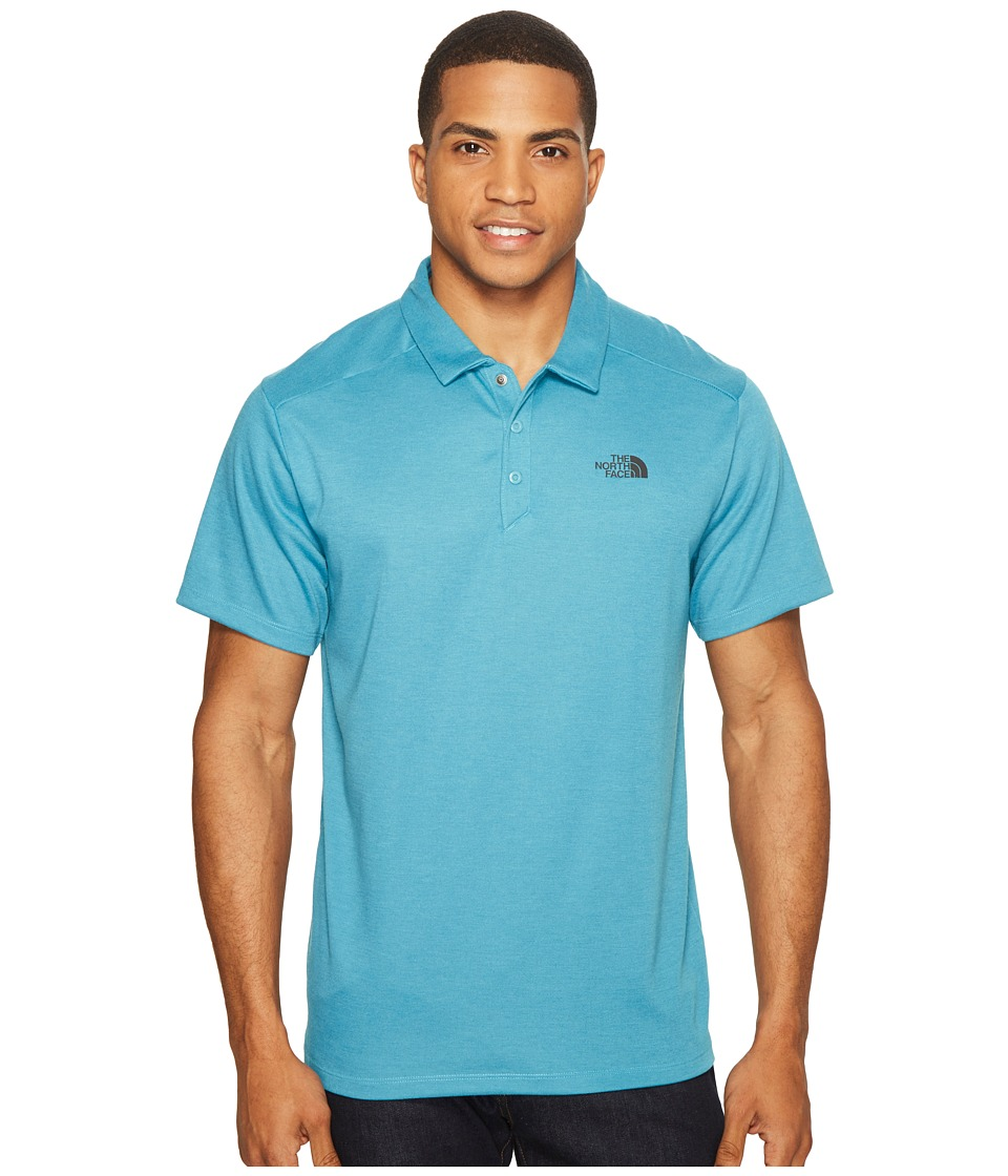 The North Face - Short Sleeve Crag Polo (Blue Moon Heather (Prior Season)) Men's Short Sleeve Knit