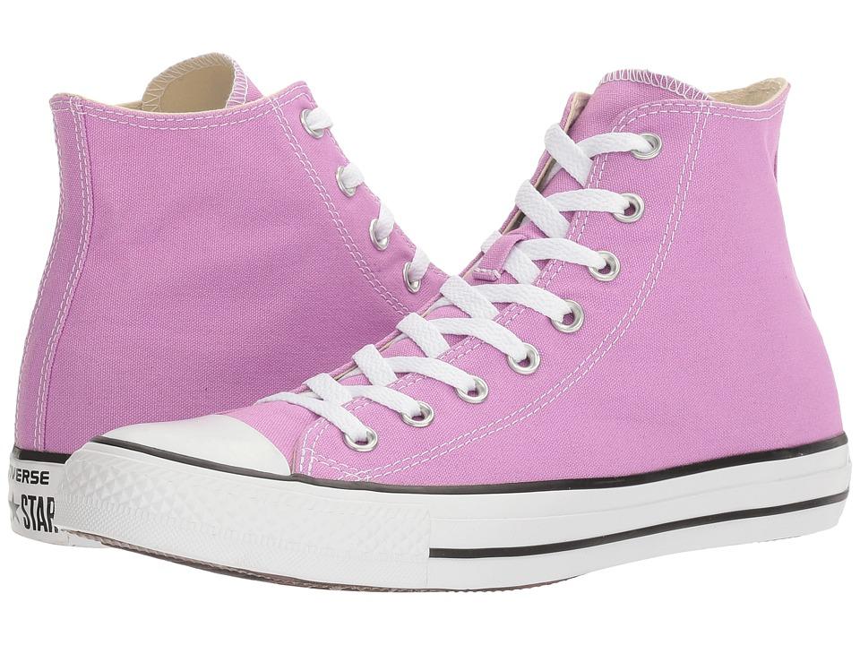Converse - Chuck Taylor All Star Seasonal Color Hi (Fuchsia Glow) Lace up casual Shoes