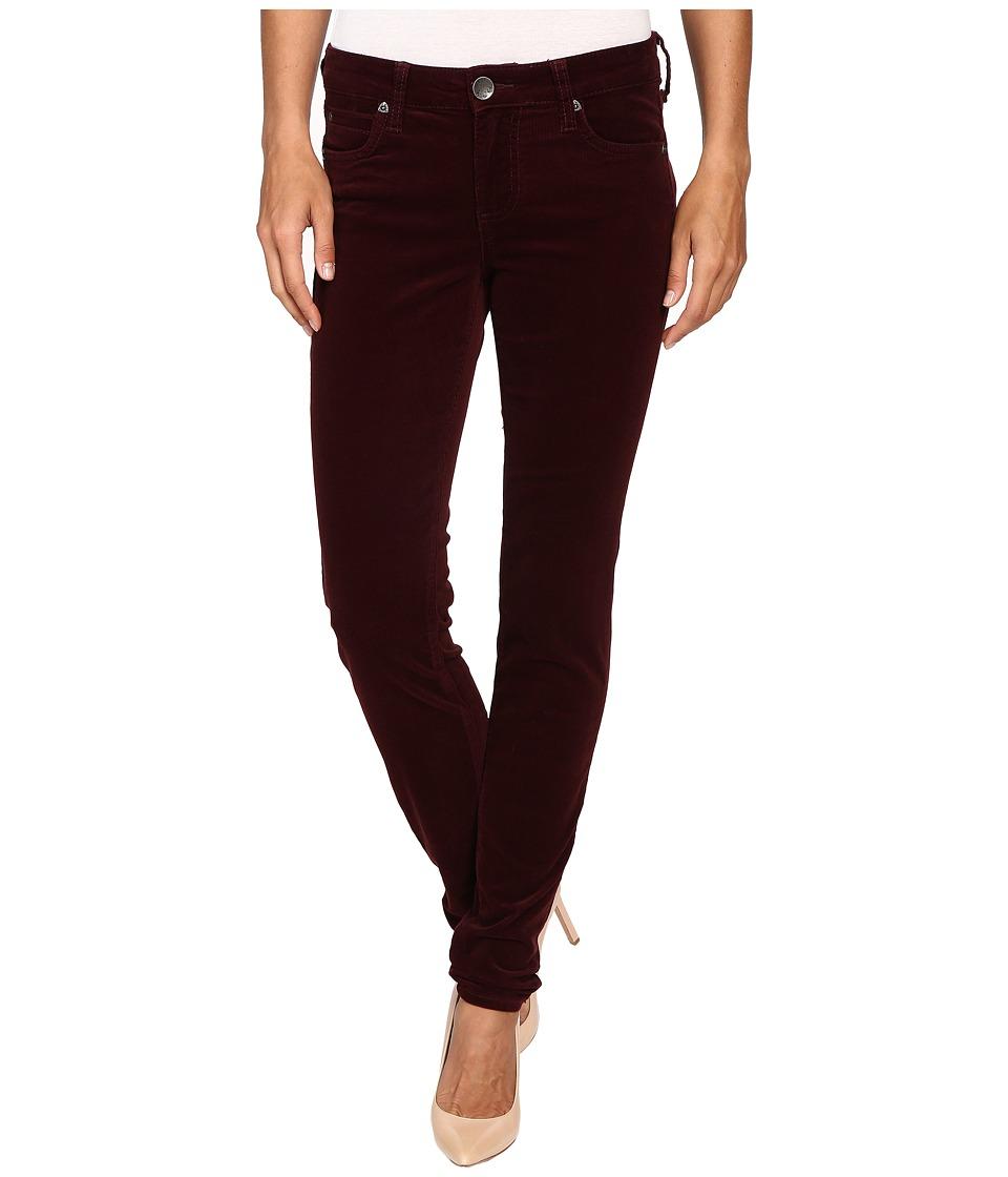 KUT from the Kloth - Diana Cord Skinny Jean (Bordeaux) Women's Jeans