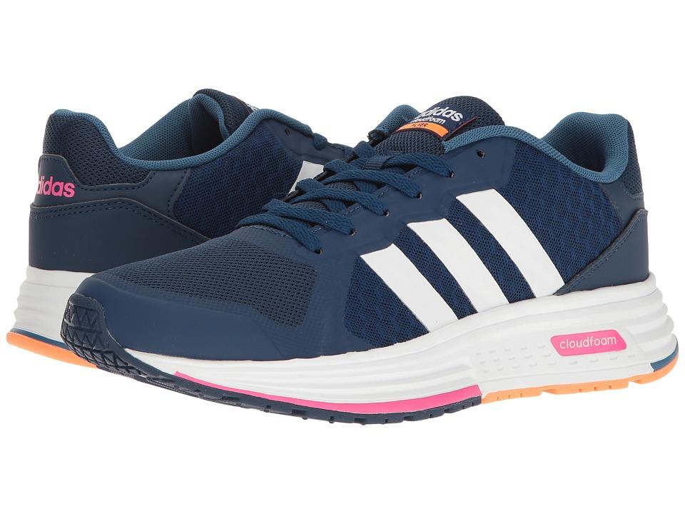 adidas - Cloudfoam Flyer (Mystery Blue/White/Shock Pink) Women\u0027s Shoes