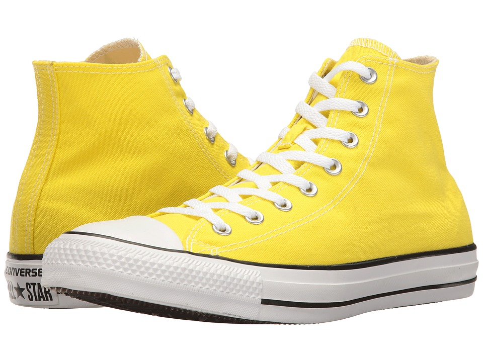 Converse - Chuck Taylor All Star Seasonal Color Hi (Fresh Yellow) Lace up casual Shoes