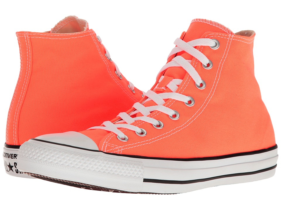 Converse - Chuck Taylor All Star Seasonal Color Hi (Hyper Orange) Lace up casual Shoes