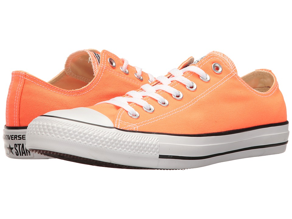 Converse Chuck Taylor All Star Seasonal Ox (Hyper Orange) Athletic Shoes