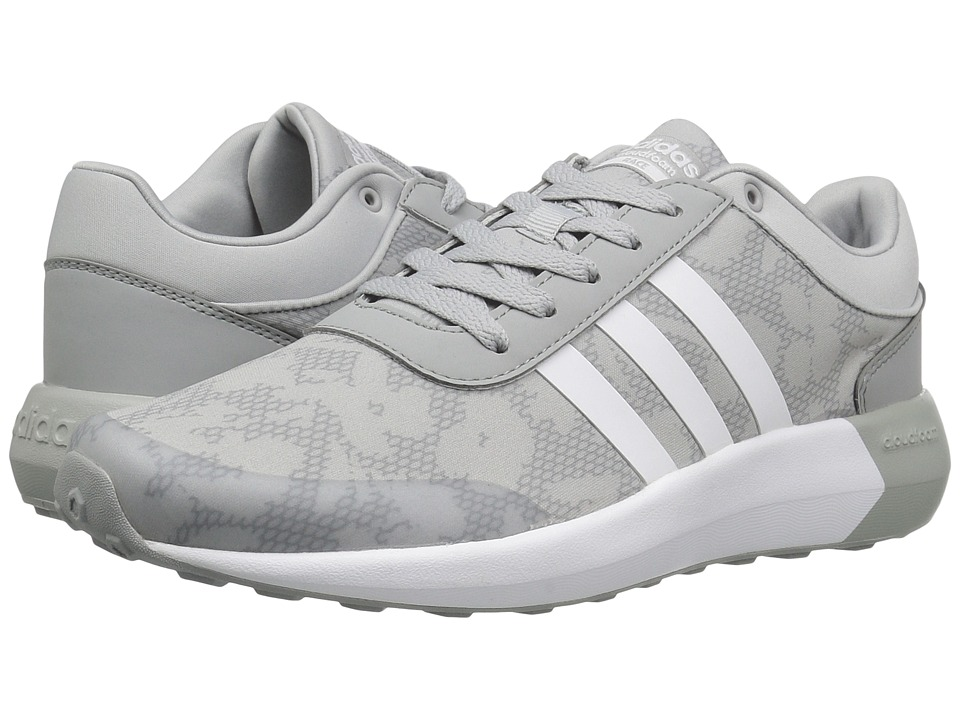 adidas - Cloudfoam Race (Clear Onix/White/White) Women's Shoes