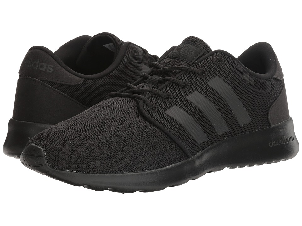 adidas - Cloudfoam QT Racer (Black/Black/White) Women's Running Shoes