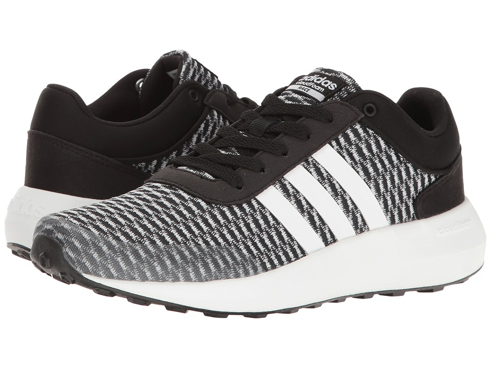 adidas - Cloudfoam Race (Black/White/Black) Women's Shoes