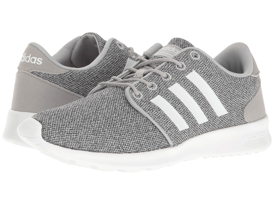 adidas - Cloudfoam QT Racer (Clear Onix/Running White/Clear Onix Mesh) Women's Running Shoes