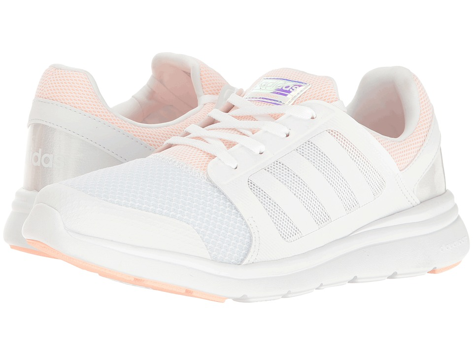 adidas - Cloudfoam Xpression (White/White/Haze Coral) Women's Running Shoes