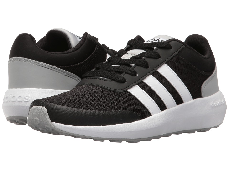 adidas Kids - Cloudfoam Race (Little Kid/Big Kid) (Black/White/Clear Onix 2) Kids Shoes