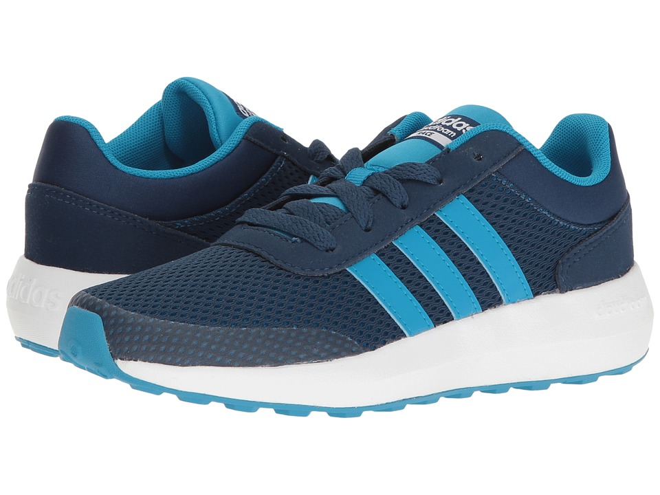 adidas Kids Cloudfoam Race (Little Kid/Big Kid) (Blue/Solar Blue/White) Kids Shoes