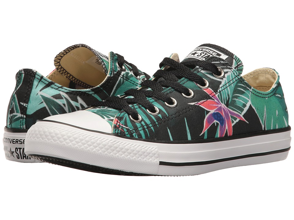 Converse - Chuck Taylor All Star Tropical Print Ox (Menta/Black/White) Women's Classic Shoes