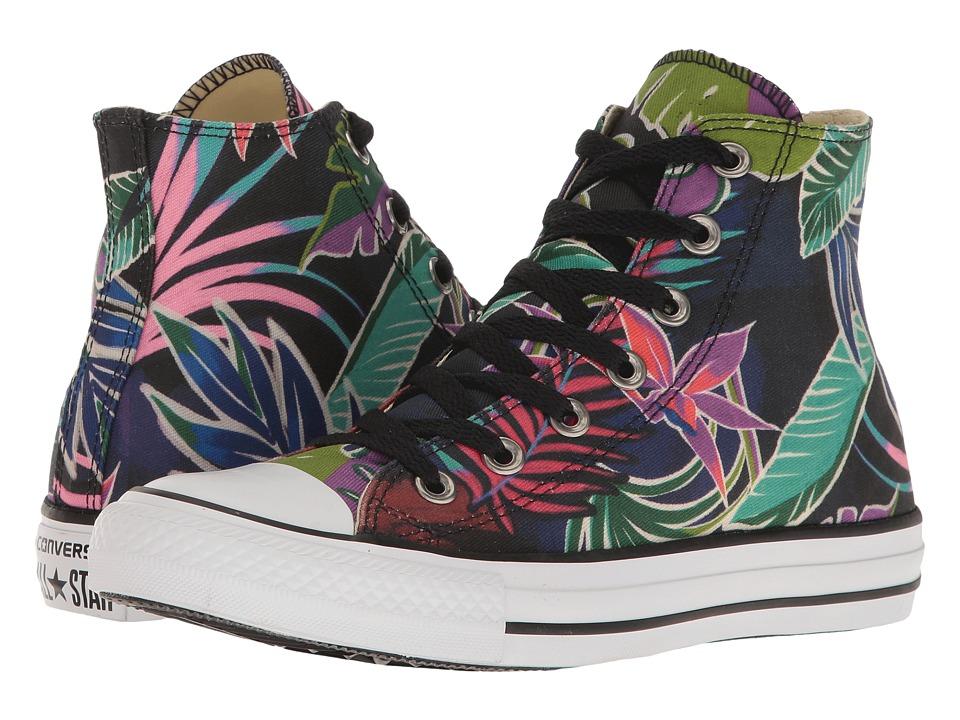 Converse - Chuck Taylor All Star Tropical Print Hi (Fuchshia Glow/Menta/White) Women's Classic Shoes