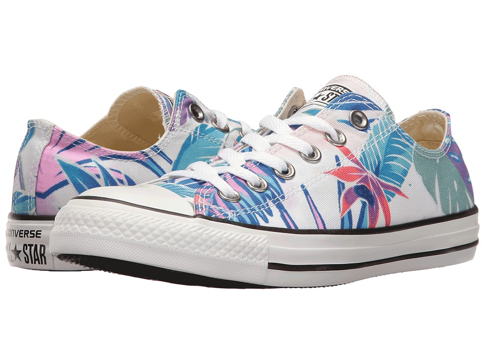 Converse - Chuck Taylor All Star Tropical Print Ox (Fresh Cyann/Magenta Glow/White) Women's Classic Shoes
