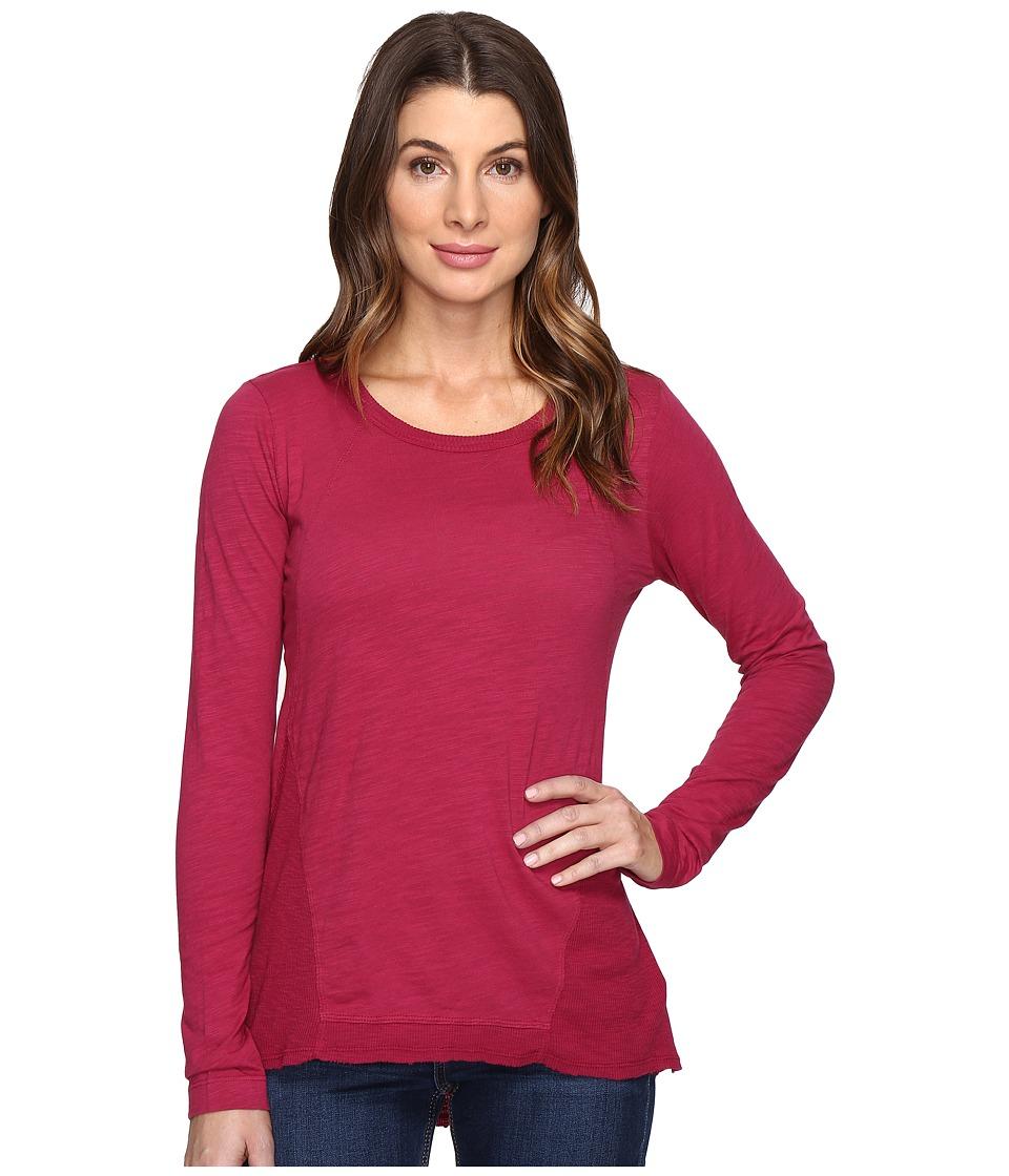 Mod-o-doc - Slub Jersey Seamed Tee w/ Contrast Rib (Cranberry) Women's T Shirt