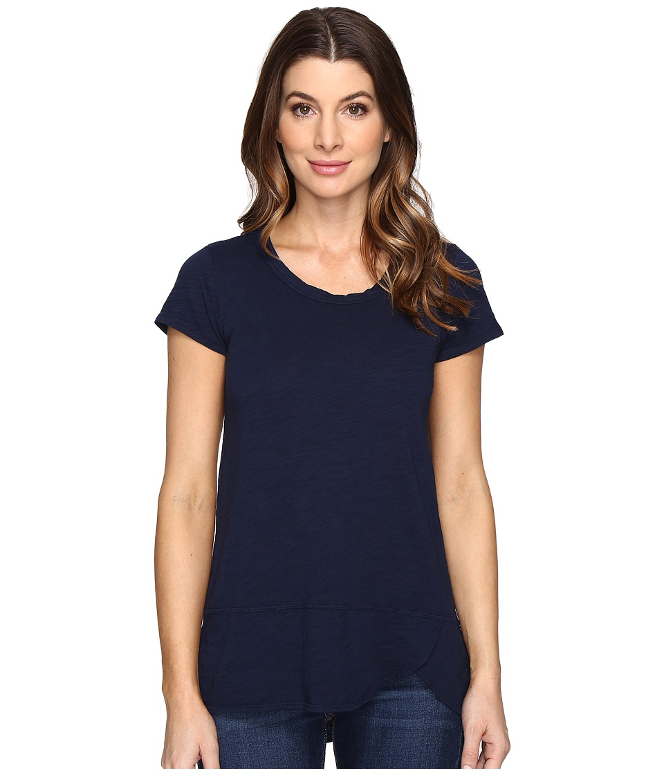 Mod-o-doc - Slub Jersey Short Sleeve Tulip Hem Tee (True Navy) Women's T Shirt