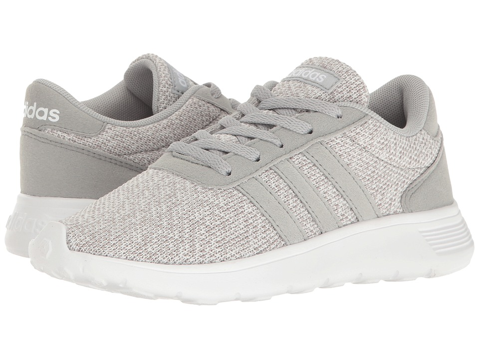 adidas Kids - Lite Racer (Little Kid/Big Kid) (Clear Onix/Clear Onix/White) Girl's Shoes