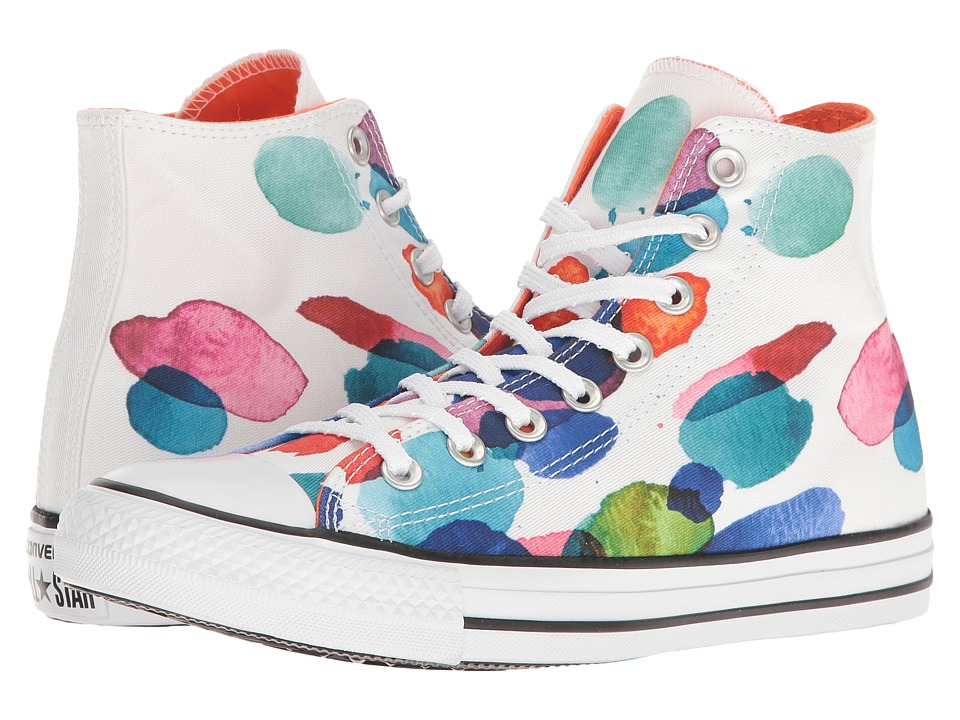 Converse - Chuck Taylor All Star Floral Petals Hi (White/Wild Mango/Black) Women's Classic Shoes