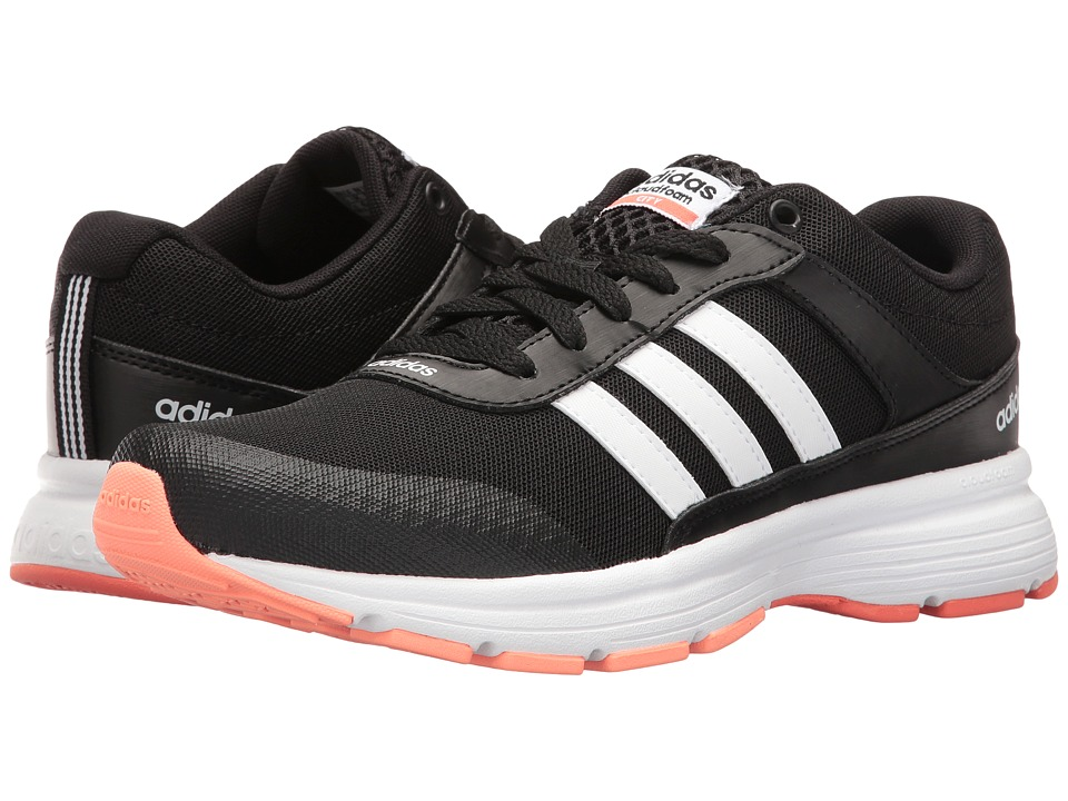 adidas - Cloudfoam VS City (Black/White/Easy Coral) Women's Running Shoes