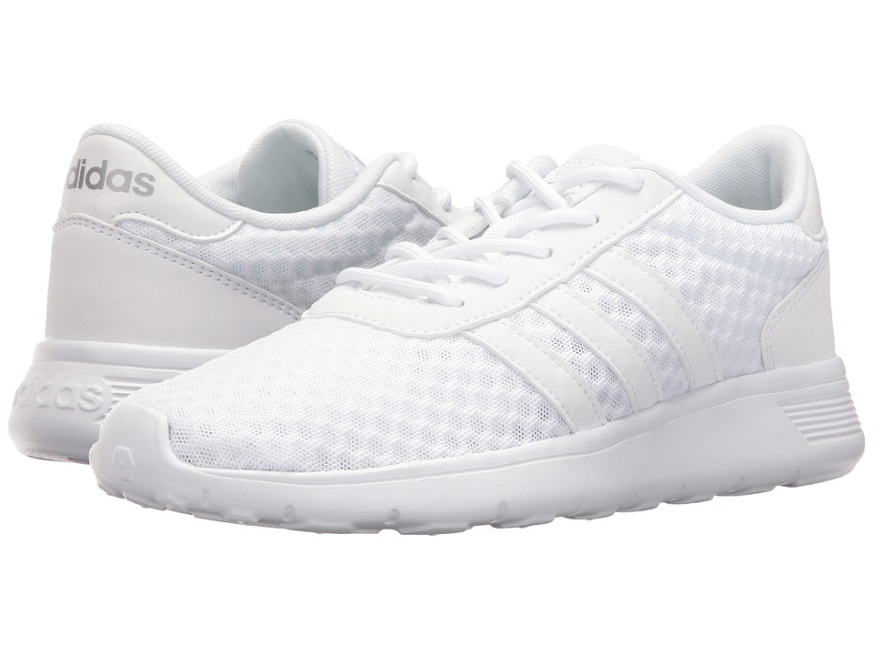 adidas - Lite Racer (White/White/Silver) Women's Shoes