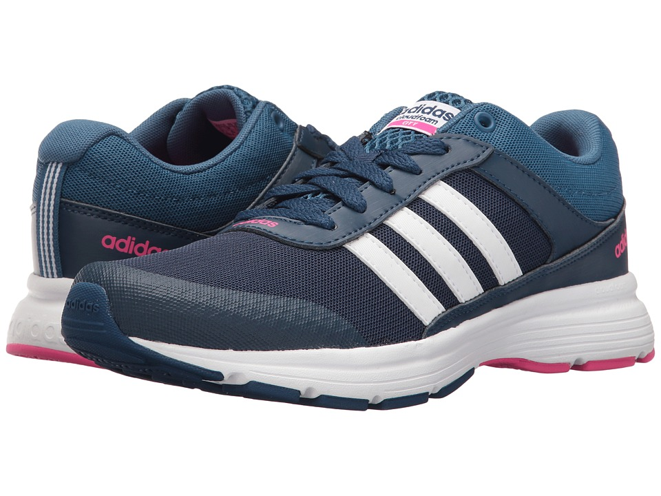 adidas - Cloudfoam VS City (Mystery Blue/White/Shock Pink) Women's Running Shoes