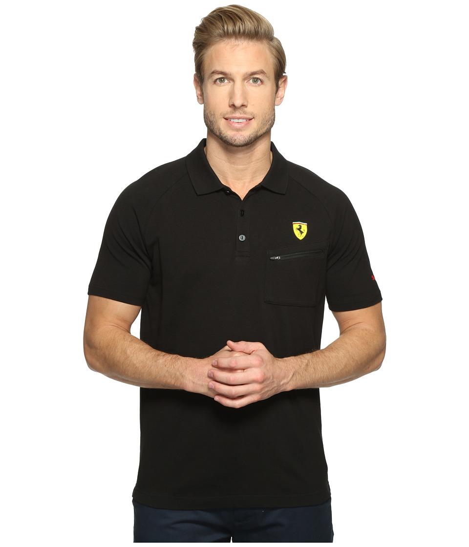 PUMA - SF Polo (PUMA Black) Men's Short Sleeve Knit