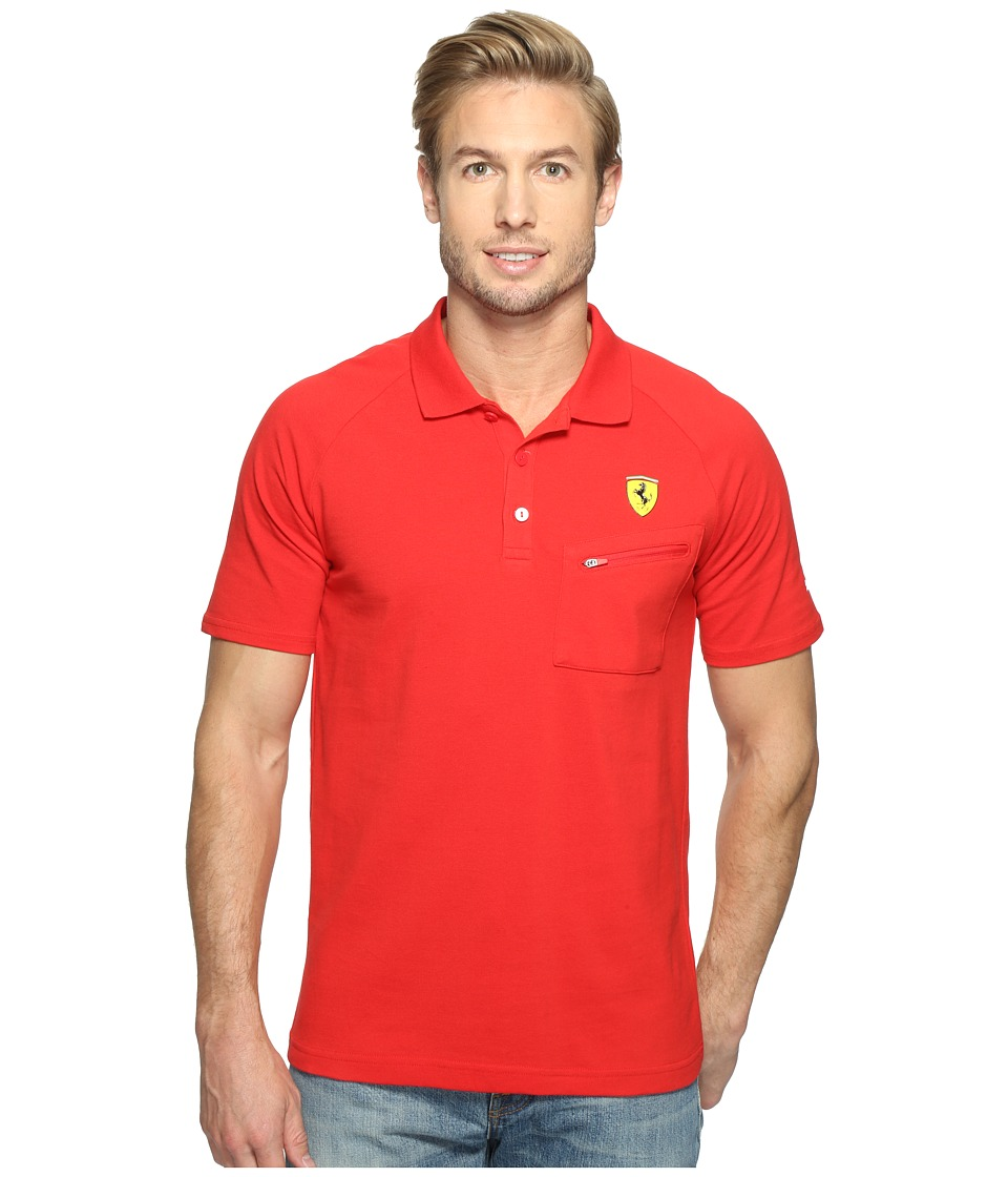 PUMA - SF Polo (Rosso Corsa) Men's Short Sleeve Knit