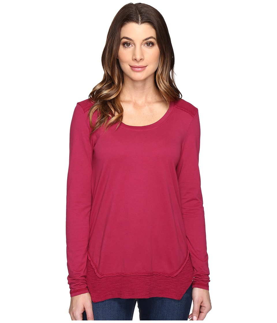 Mod-o-doc - Classic Jersey Long Sleeve Tee w/ Thermal Contrast (Cranberry) Women's T Shirt