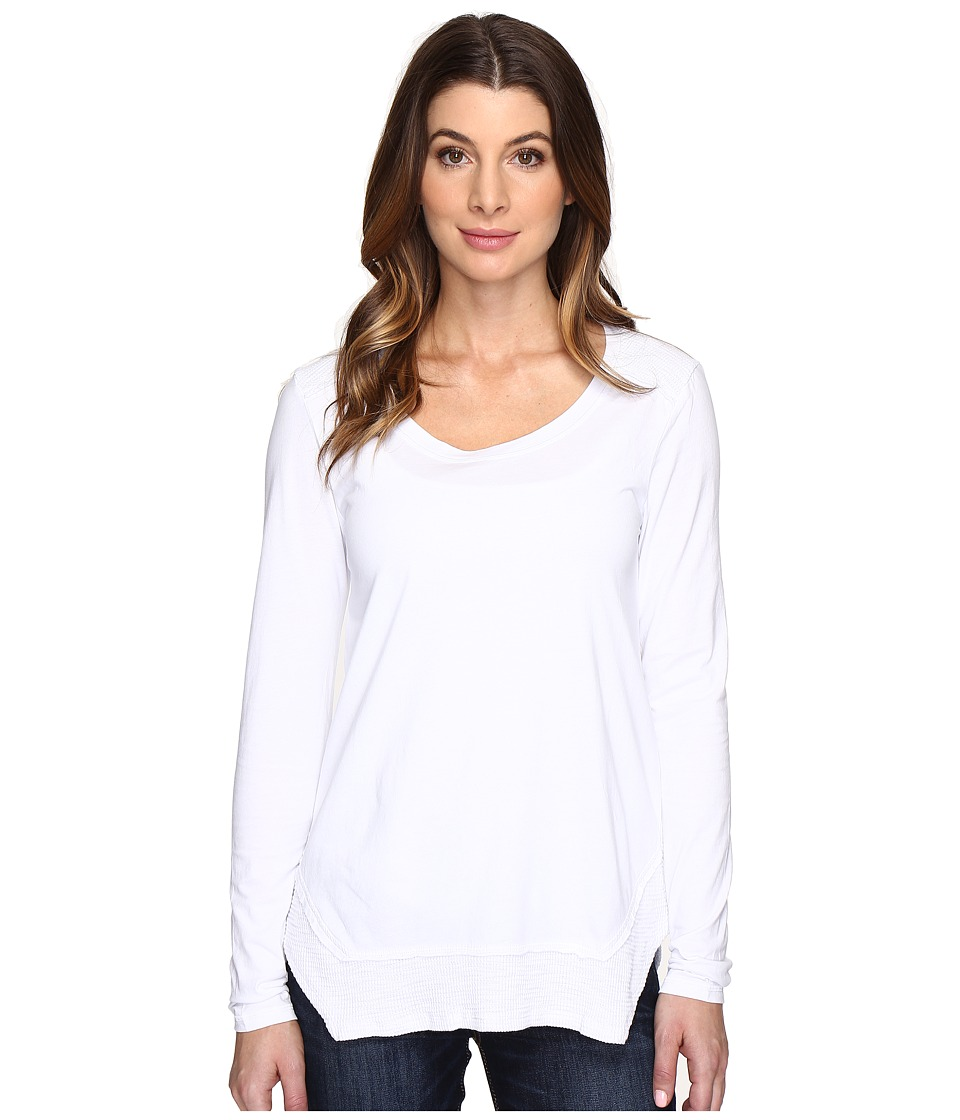 Mod-o-doc - Classic Jersey Long Sleeve Tee w/ Thermal Contrast (White) Women's T Shirt