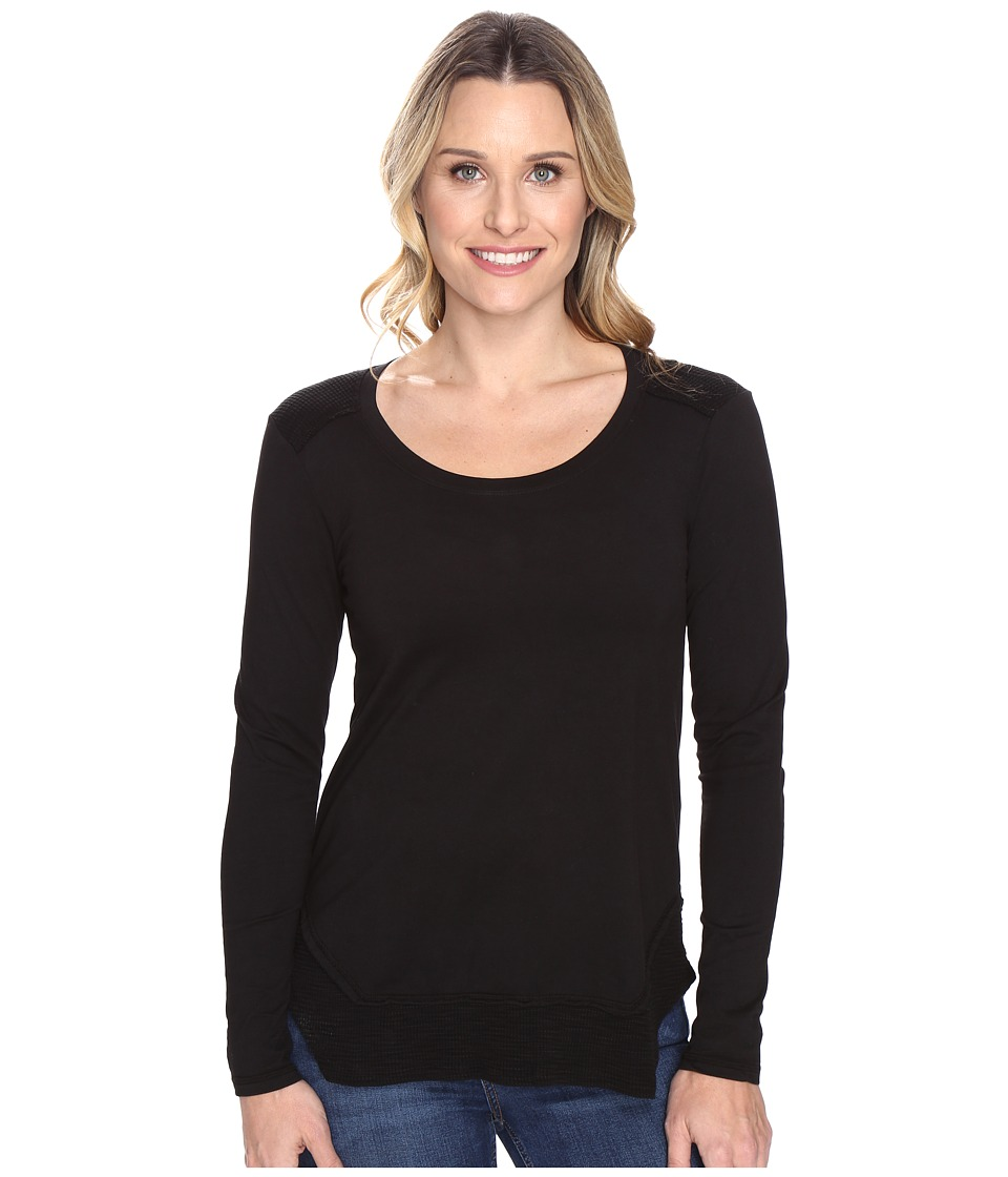 Mod-o-doc - Classic Jersey Long Sleeve Tee w/ Thermal Contrast (Black) Women's T Shirt