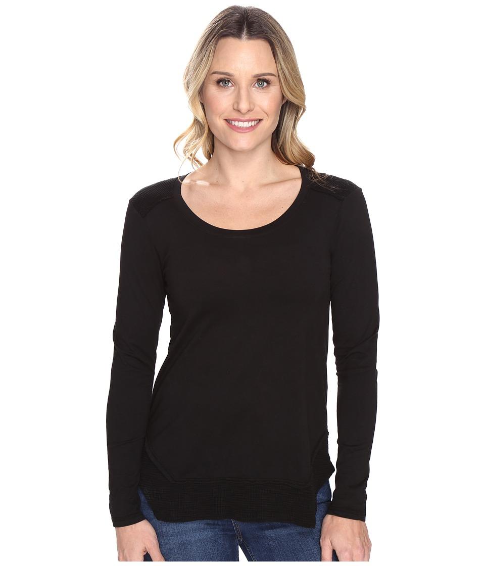 Mod-o-doc - Classic Jersey Long Sleeve Tee w/ Thermal Contrast (Black) Women's T Shirt