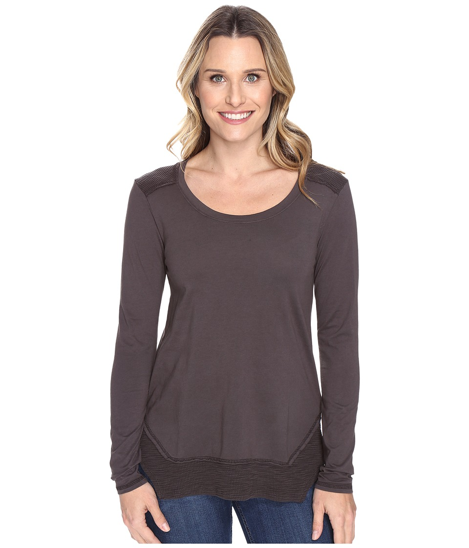 Mod-o-doc - Classic Jersey Long Sleeve Tee w/ Thermal Contrast (Dark Nickel) Women's T Shirt
