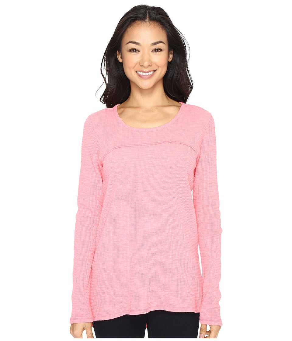 Mod-o-doc - Vintage Slub Thermal Back Vent Long Sleeve Tee (Guava) Women's T Shirt