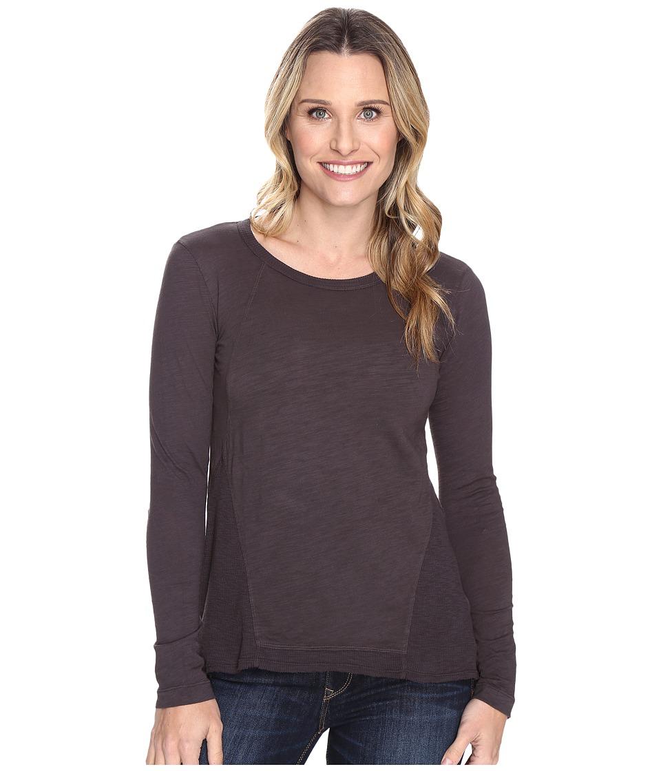 Mod-o-doc - Slub Jersey Seamed Tee w/ Contrast Rib (Dark Nickel) Women's T Shirt