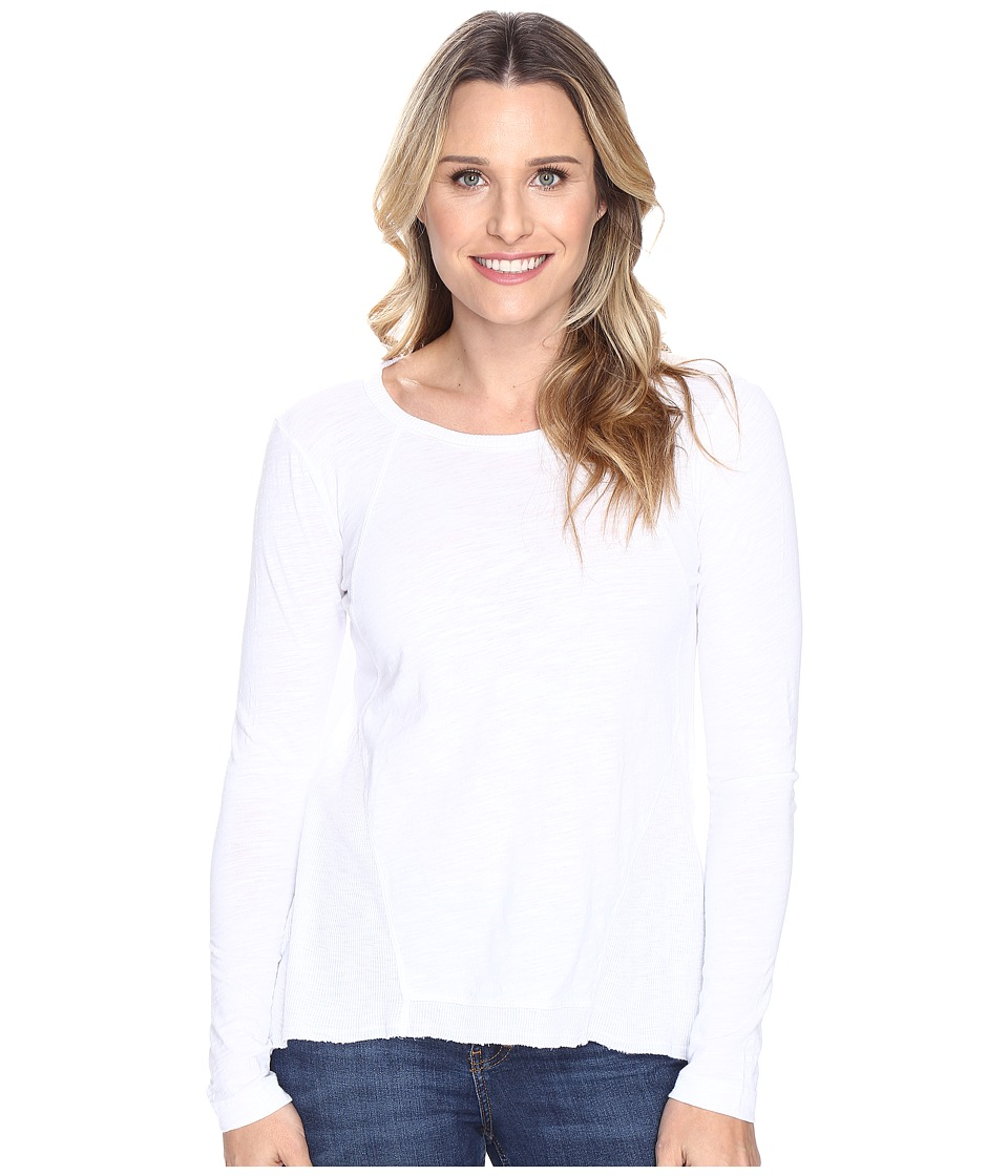 Mod-o-doc - Slub Jersey Seamed Tee w/ Contrast Rib (White) Women's T Shirt