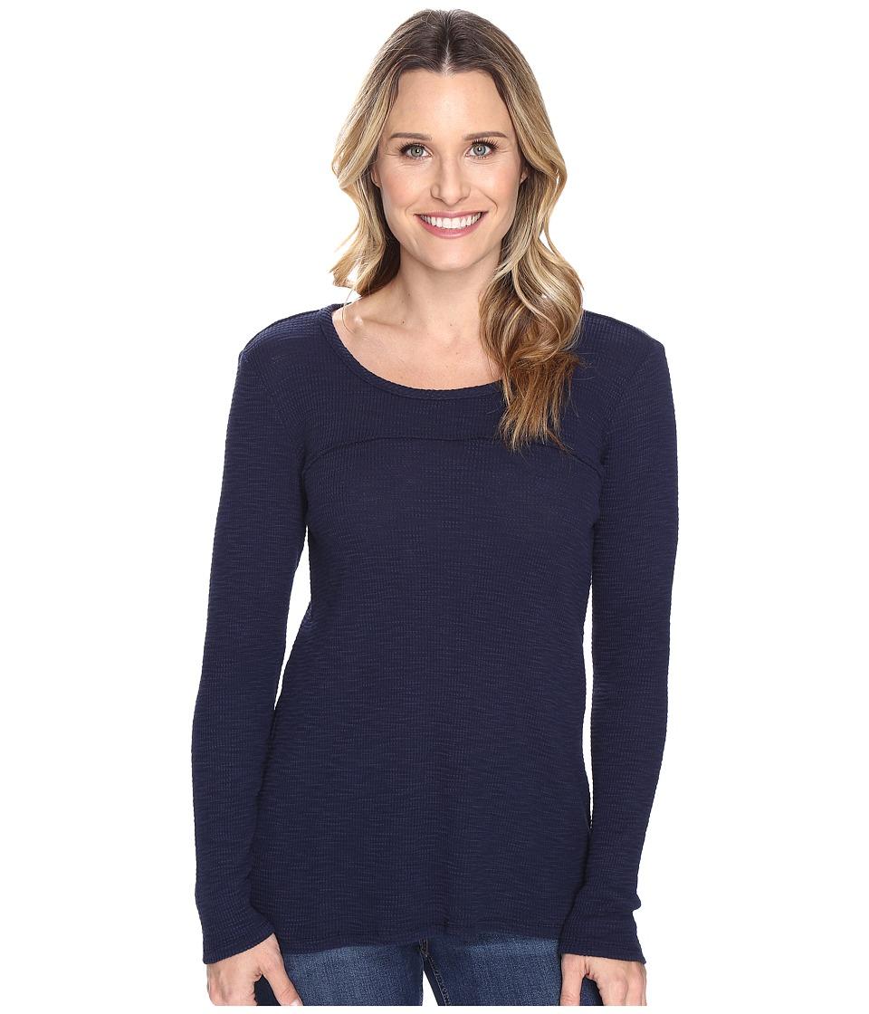 Mod-o-doc - Vintage Slub Thermal Back Vent Long Sleeve Tee (True Navy) Women's T Shirt