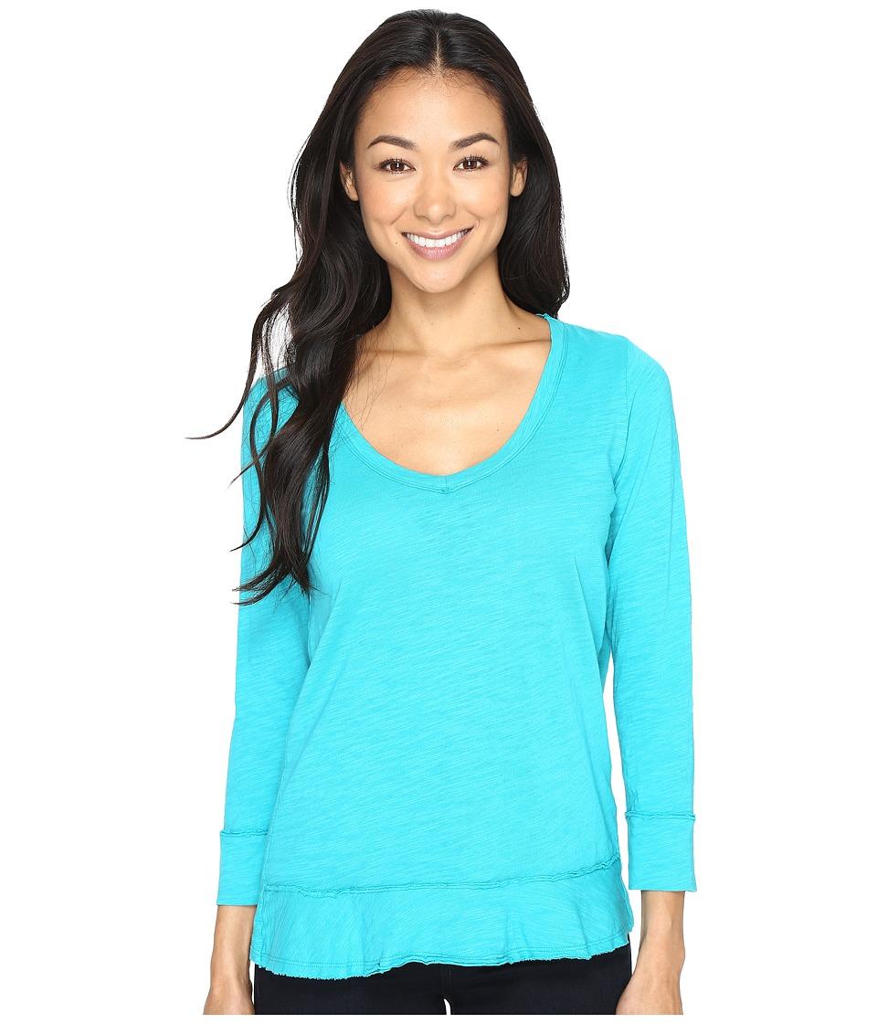 Mod-o-doc - Slub Jersey Forward Seam 3/4 Sleeve Tee (Seaside) Women's T Shirt
