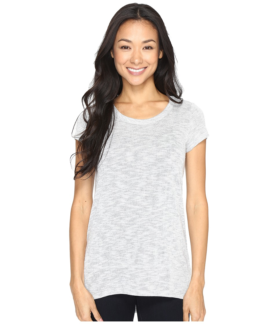 Mod-o-doc - Breezy Slub Sweater Banded Hem Tee (Light Grey) Women's T Shirt