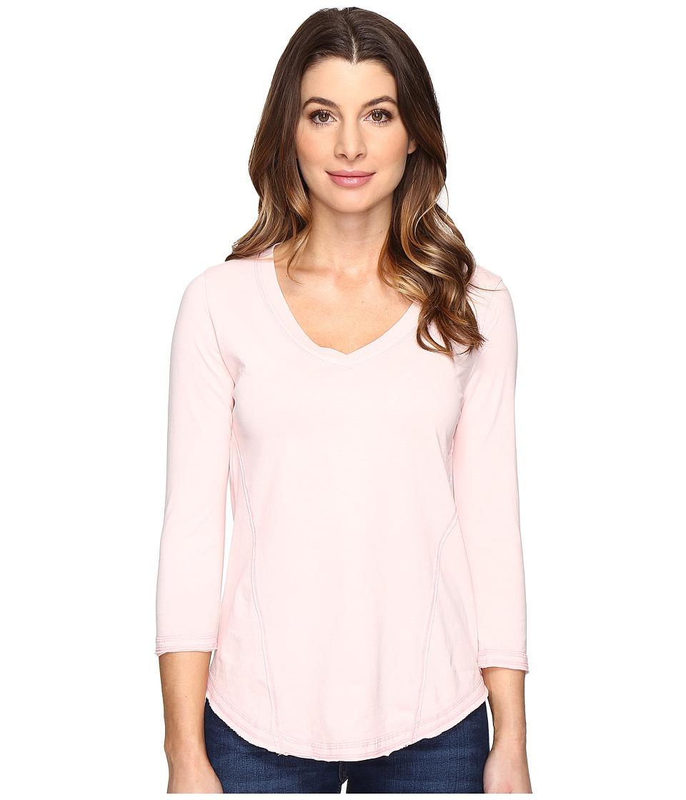 Mod-o-doc - Classic Jersey Seamed V-Neck Tee (Princess) Women's T Shirt