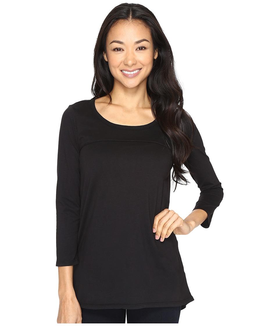 Mod-o-doc - Classic Jersey Back Vent 3/4 Sleeve Tee (Black) Women's T Shirt