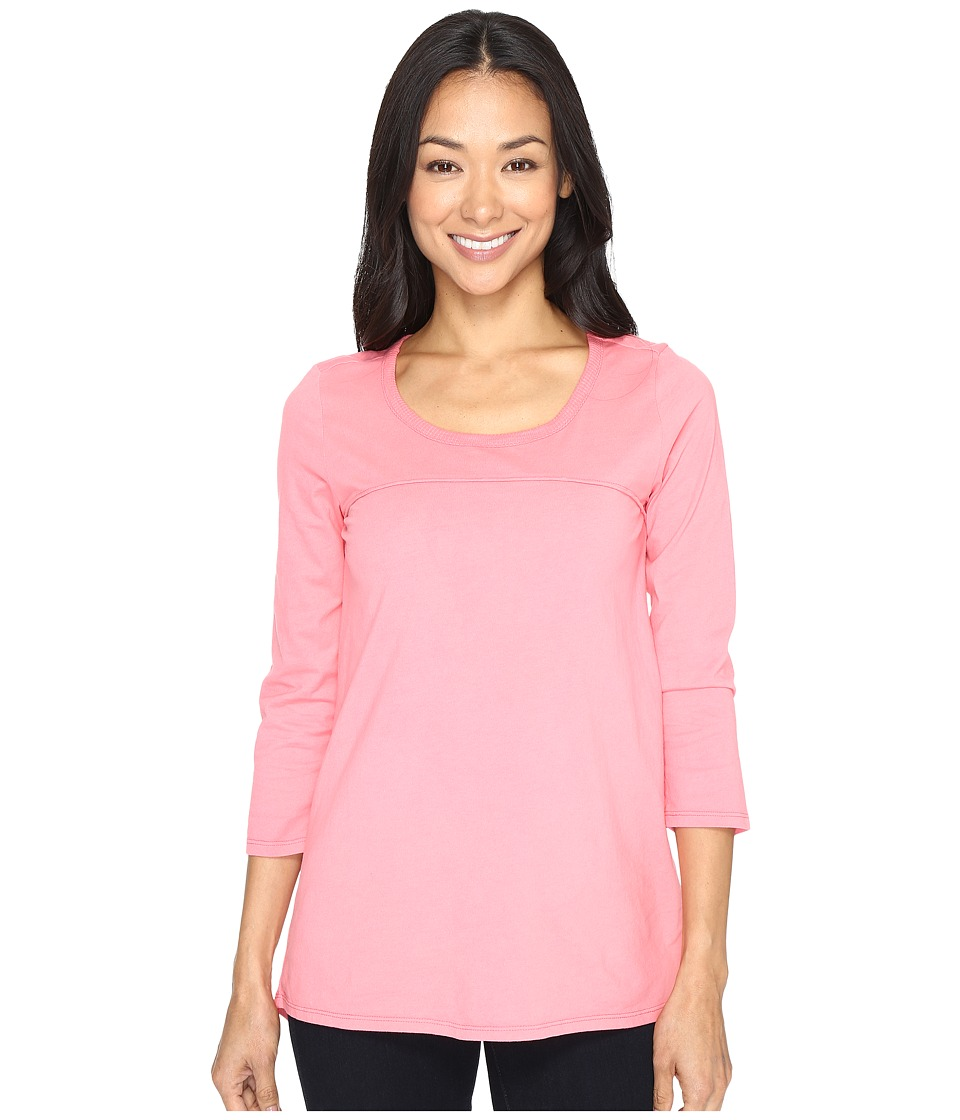Mod-o-doc - Classic Jersey Back Vent 3/4 Sleeve Tee (Guava) Women's T Shirt
